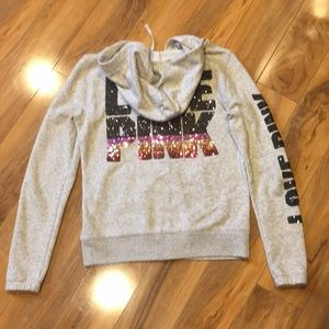 Size small VS PINK full zip bling hoodie